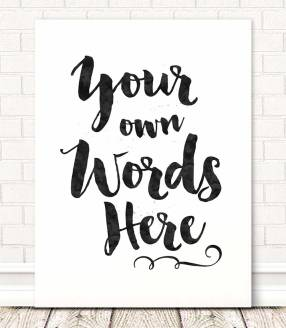 own-quote-brush-lettering-wall-art-print